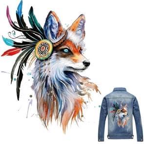 10 PCS Color Fox Offset Ironing Decorative Sticker DIY T-shirt Heat Transfer Pyrography(As Show)