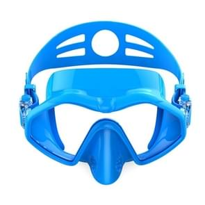 M6113 Adult Diving Goggles Deep Diving Integrated Goggles Mask Anti-fog Diving Glasses  Size:One Size(Blue)