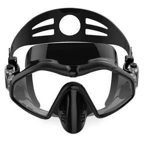 M6113 Adult Diving Goggles Deep Diving Integrated Goggles Mask Anti-fog Diving Glasses  Size:One Size(Black)