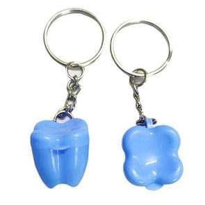 10 stuks plastic kleurrijke baby tand vak sleutelhanger typen peuters souvenirs (licht blauw)