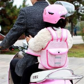 Motorfiets fiets batterij fiets rijden Kind Baby Safety Strap (Waterdicht roze)