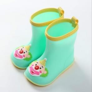 Rubber Children Cartoon Rainshoes Candy Color Rain Boots, Size:Inner Length 14.5cm(Green Clown)