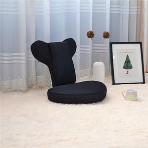 Woonkamer opvouwbare stoel verstelbaar vloer legless tatami Zaisu yoga houding stoel Bank (zwart)
