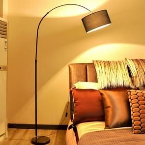 Woonkamer slaapkamer studie eenvoudige afstandsbediening vloer lamp (H zwart + 5W LED warm licht)