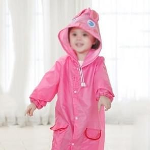 2 PCS Outdoor Cute Waterproof Kids Rain Coat Kids Animal Style(Pink)