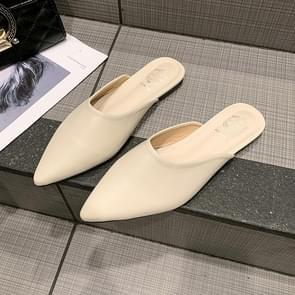 Sexy Pointed Head Womens Flat Slippers Non-SlipFlats Shoes, Shoe Size:34(Beige)