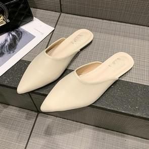 Sexy Pointed Head Womens Flat Slippers Non-SlipFlats Shoes, Shoe Size:41(Beige)
