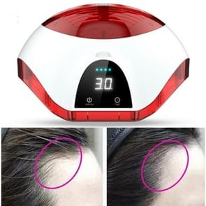 LCD Display Laser Therapy Hair Growth Helmet Anti Hair Loss Device Promote Hair Regrowth Cap(Black White Red)