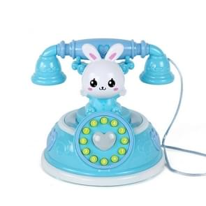 Kinderen Retro Cartoon Telefoon Early Education Story Machine Simulatie Telefoon Speelgoed (Blauw)