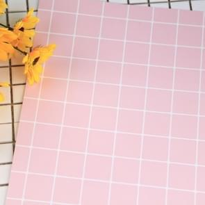 2 PCS Big Grid Card Food Shooting Props Photography Background(Pink)