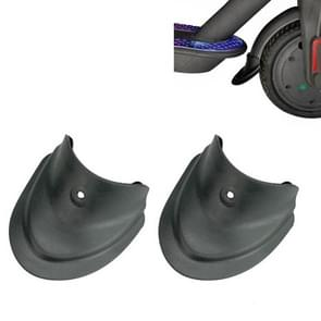 3 paren Scooter Fender Fishtail Rubber voor- en achterspatbord gewijzigde accessoires voor Xiaomi M365 / Pro(Spatbord Zwart)