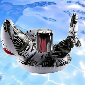 Haai-vormige Opblaasbare Coaster Water Floating Drink Cup Holder