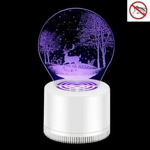 Creatieve 3D Mute USB Household Mosquito Killer LED Night Trap Lights  Style:Fawn (USB+Plug)