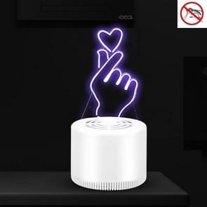 Creatieve 3D Mute USB Household Mosquito Killer LED Night Trap Lights  Style:For Love (USB+plug)