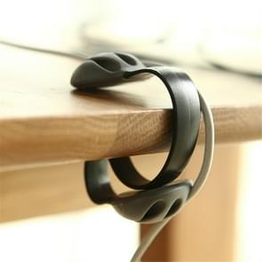 3 PCS-stekkerdraad afwerking clip winder clip kabel organisator (zwart)