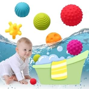 6 in 1 Baby Bath Soft Ball Rubber Educational Tub Toys