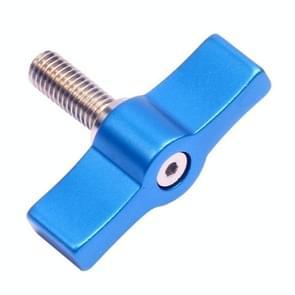 10ST T-vormige schroef multi-directionele aanpassing hand schroef aluminiumlegering handvat schroef  specificatie: M4 (blauw)