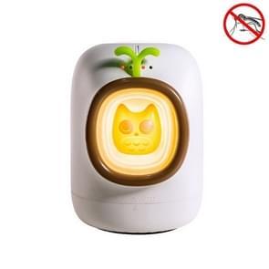 Mini USB Household Elektronische Fysieke Insectenwerende Nacht licht (Wit)