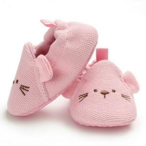 Baby Cotton Warm Soft Sole Plush Prewalker, Size:11CM(Pink)