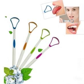 2 stuks tong coating schoonmaken schraper te verwijderen slechte adem tong borstel willekeurige kleur levering