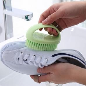 2 PCS  Multi Functional Soft Hair Laundry Washing Shoes Bathroom Cleaning Brush(Green)