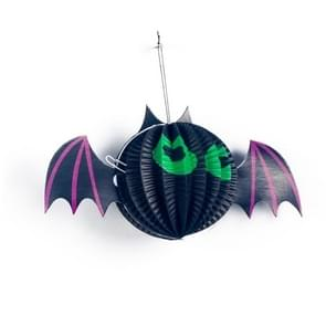 2 PCS Halloween Decoration Halloween Spider Pumpkin Decoration Pendant Bar Atmosphere Arrangement Paper Decoration(Bat)