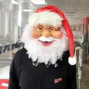 2 PC'S Christmas Santa Claus siliconen masker baard decoratie