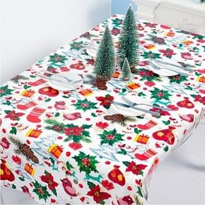 2 PCS Christmas Creative Disposable PVC Printed Tablecloth Table Decoration(Red Fruit )