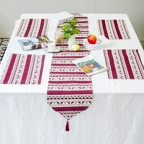 2 sets kerst tafellinnen afgedrukt tabel vlag set decoratie benodigdheden