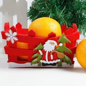 2 PC'S kerstavond Candy Apple gift fruit opslag mand decoratie (oude man)