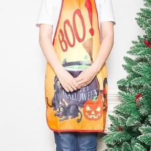 2 PCS Halloween Party Decoration Apron Halloween Decorations( Black Cat Pharmacy )