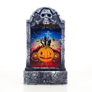 2 PCS Halloween Bar Atmosphere Retro Simulation Tombstone Lights Decorations(Pumpkin )