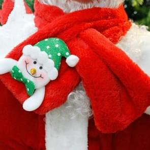 2 PC'S Christmas Santa Claus sjaal BIB kleding accessoires decoratie benodigdheden (sneeuwpop)