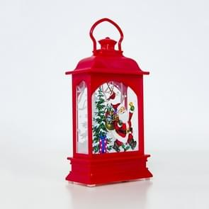 2 PC'S creatieve kerstversiering handheld Kerst lantaarn (rode oude man)