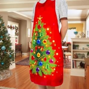 2 PCS Fabric Print Snowman Christmas Apron Christmas Party Atmosphere Decoration, Type:Christmas Tree