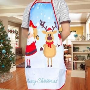 2 PCS Fabric Print Snowman Christmas Apron Christmas Party Atmosphere Decoration, Type:White Old Man Elk