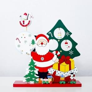 2 PC'S kerst houten Santa Claus Snowman muziekdoos (Santa)