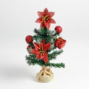 2 PCS Christmas Delicate Mini Christmas Tree(Red)
