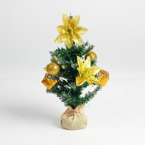 2 PCS Christmas Delicate Mini Christmas Tree(Yellow)