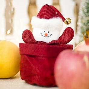 2 PC'S kerst creatief doek Candy kleine gift opslag mand decoraties (sneeuwpop)