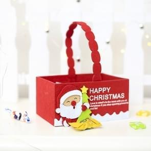 2 PC'S kerst creatief fluweel stof Candy opbergdoos draagtas (Santa)