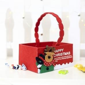 2 PC'S kerst creatief fluweel stof Candy opbergdoos draagtas (elk)