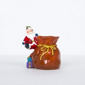 Creatieve zachte keramische kerst pennen geschilderd Santa pennen (oranje)