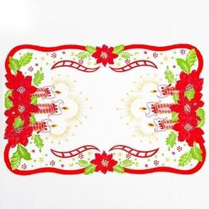2 PC'S creatief gedrukte kerst tabel mat decoratie (F)