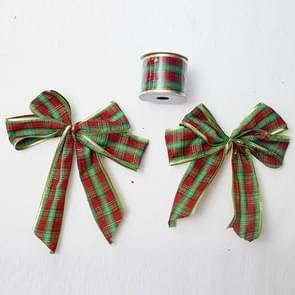 2 rollen kerst pailletten lint Bow ornament (rode en groene strips)
