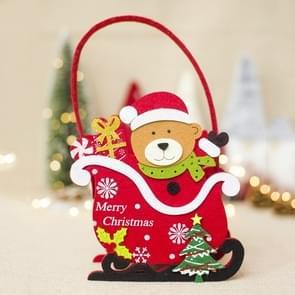 2 PC'S creatieve kerst voelde Candy basket opslag mand decoratie (Bear)