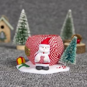 2 PC'S kerst drie-dimensionale zachte keramische Doll kandelaar sieraden (liefde voor de ouderen)