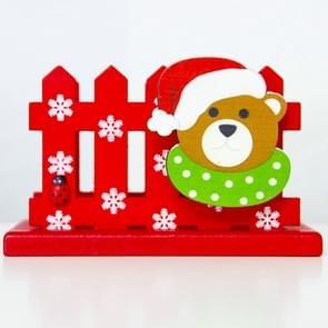 2 PC'S kerst creatief houten hek decoratie visitekaartje houder (BEA)