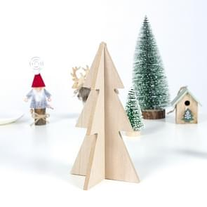 2 PCS Christmas Logs Spelled Into Christmas Tree Crafts Decorations, Specification: Small