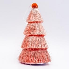 2 PCS Tassel Christmas Tree Ornaments Creative Home Decoration Ornaments(Orange )